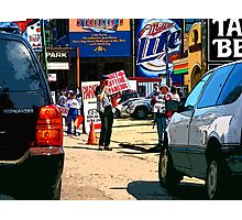 e-z out parking, chicago cubs Photographic Print