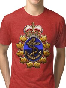 Canadian Forces Naval Operations Logo Tri-blend T-Shirt