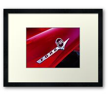 red ford f-100 pick-up truck Framed Print