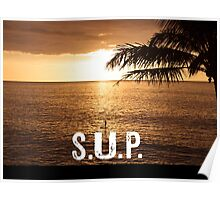 SUP - Stand Up Paddle Boarding  Poster