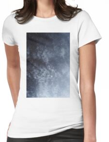 Blue veiled moon Womens Fitted T-Shirt