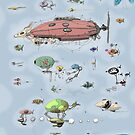 Airship race by Weird