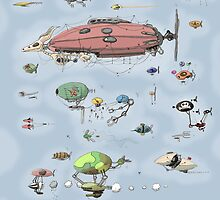 Airship race by Weird