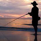 Fishing on Moreton by GayeL Art