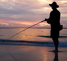 Fishing on Moreton by gamaree L