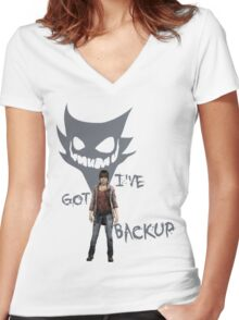Two Souls - Backup - Color Women's Fitted V-Neck T-Shirt