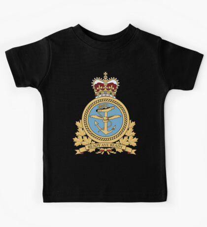 Canadian Navy Maritime Command Logo Kids Tee
