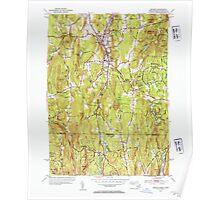 Massachusetts  USGS Historical Topo Map MA Monson 351911 1953 31680 Poster