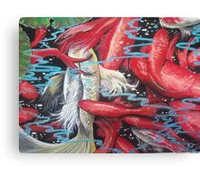 Red Shimmer Canvas Print