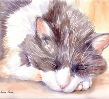 Chloe Sleeping by Anne Sainz
