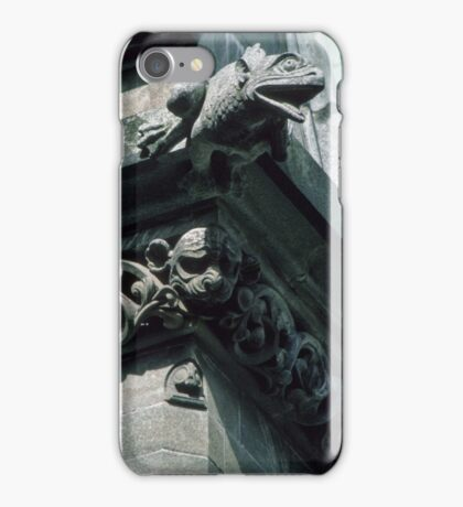 Frog Gargoyle on roof Nidaros Cathedral Trondheim Norway 19840622 0030 iPhone Case/Skin
