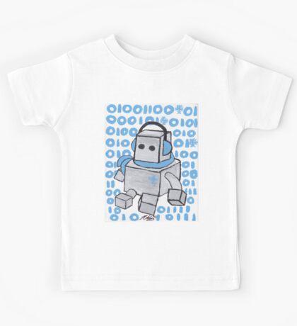 Let It Snow Binary Robot Kids Tee