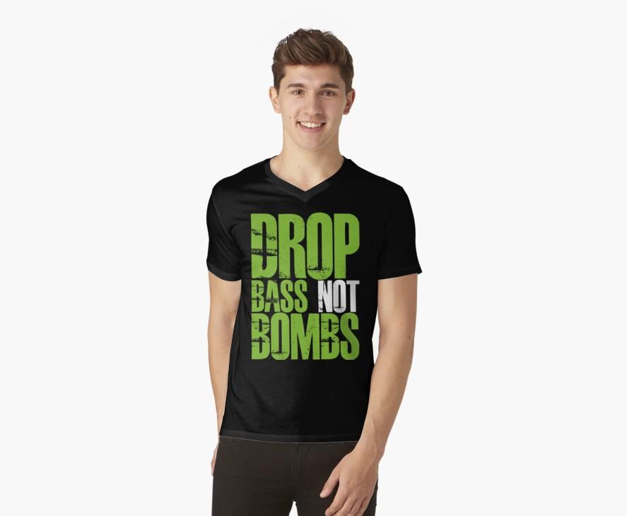 Drop Bass Not Bombs (Neon Green) by DropBass