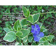 Preserve me O God Photographic Print