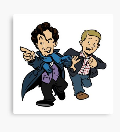 Sherlock - The Game is On Canvas Print