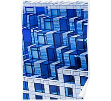 Abstract Architecture in Blue Poster
