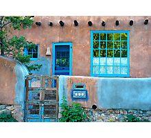 Adobe Blue Photographic Print