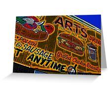 art's drive-in billboard Greeting Card