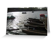Boats in Beijing Greeting Card