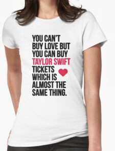 Taylor Swift Tickets Womens Fitted T-Shirt