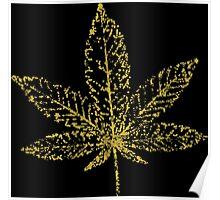 Marijuana Abstract Gold Poster
