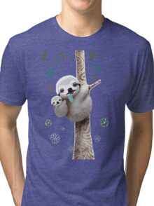 Baby Sloth Midnight Tri-blend T-Shirt