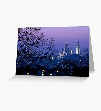 France - Paris - Le Sacré-Cœur Greeting Card