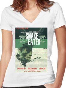 Snake Eater - Metal Gear Women's Fitted V-Neck T-Shirt