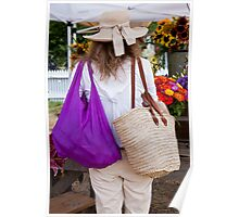 Bags And Ribboned Straw Poster