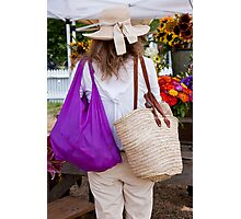 Bags And Ribboned Straw Photographic Print