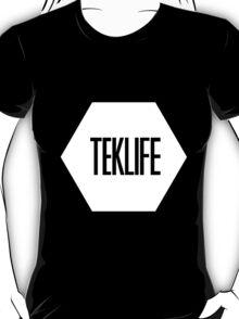 TEKLIFE white on black T-Shirt