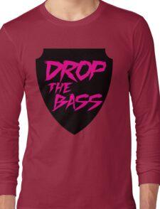 Drop The Bass Shield  Long Sleeve T-Shirt