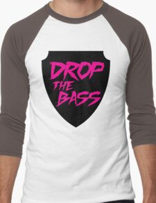 Drop The Bass Shield  Men's Baseball ¾ T-Shirt