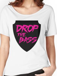 Drop The Bass Shield  Women's Relaxed Fit T-Shirt