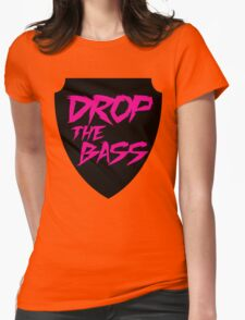 Drop The Bass Shield  Womens Fitted T-Shirt