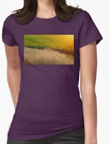 Sunflowers and feather grass Womens Fitted T-Shirt