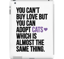 Adopt cats iPad Case/Skin