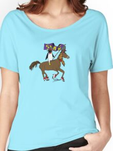 Penguin Horse Swag Flag Women's Relaxed Fit T-Shirt