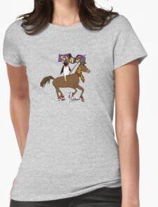 Penguin Horse Swag Flag Womens Fitted T-Shirt