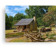 Blue Ridge Mountain Home Canvas Print
