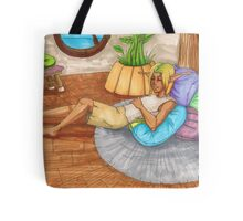 Sleeping in Sandover Tote Bag