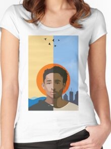 We r becoming God - Poster/Phone Case Women's Fitted Scoop T-Shirt
