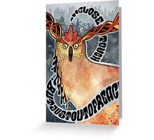 Psyowl Greeting Card