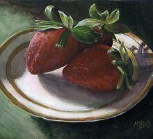 Strawberry Still Life by Michael Beckett