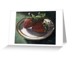 Strawberry Still Life Greeting Card