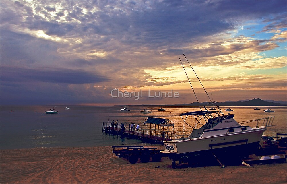 Fishing Retreat by Cheryl  Lunde