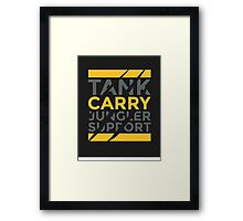 Carry Only Framed Print
