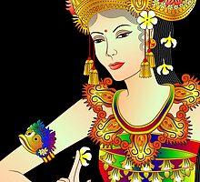 Details-1 (Balinese Dancer & Frangipani) by myrbpix