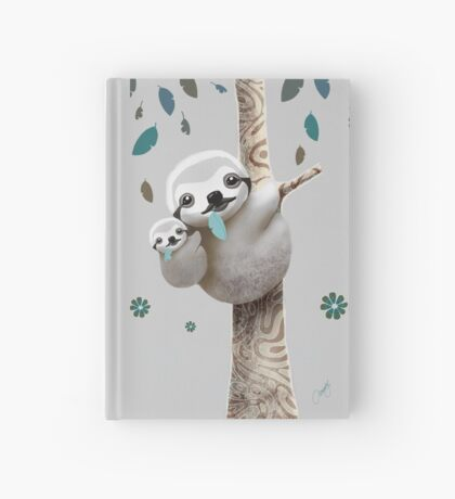 Baby Sloth Twilight Hardcover Journal