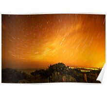 Star Trails in Torquay Poster